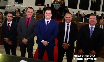Eleitos nas eleições municipais são empossados na Câmara de Vereadores.