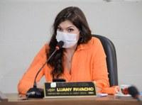 A pedido da vereadora Luany Favacho, representante da Comissão da Transposição da Emenda Constitucional 98, usa a tribuna da CMM
