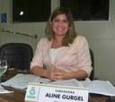 """Aline Gurgel fala do projeto """"Vereadora na Comunidade""""."""