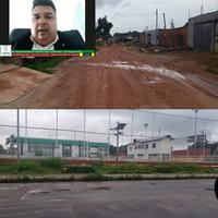 André Lima cobra asfaltamento da Avenida 12, no Marabaixo III, e limpeza de Praça no Novo Buritizal