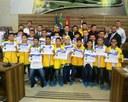 Atletas amapaenses são homenageados na Câmara de Vereadores de Macapá.