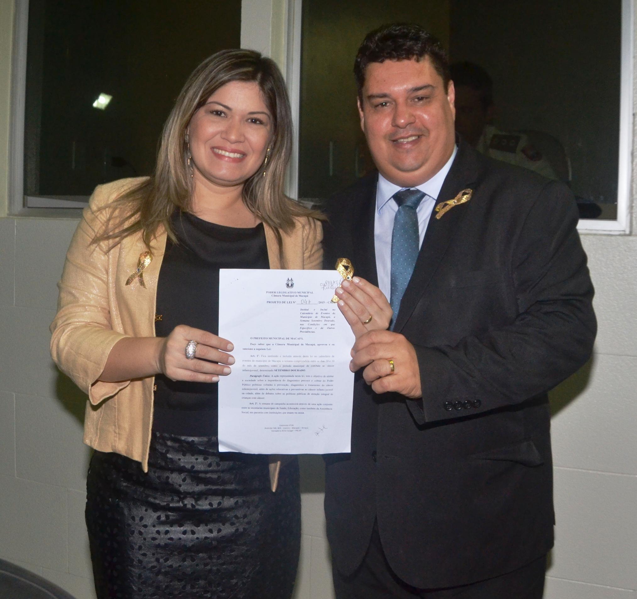 Câmara aprova projeto que institui a Semana Setembro Dourado.