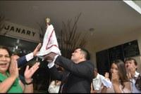 Câmara de Vereadores de Macapá recebe imagem peregrina de nossa senhora de Nazaré