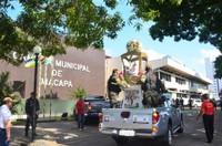 Câmara Municipal de Macapá recebe visita da imagem peregrina de Nossa Senhora de Nazaré