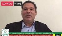 Carlos Murilo requer melhorias para o Pacoval, Macapaba e Feira do Produtor