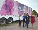 Comissão de Vereadoras da CMM visita carreta Saúde da Mulher, na zona norte da capital