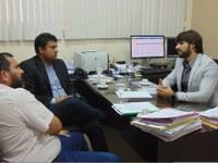 Em reunião no MP, o vereador Diogo Senior busca informações de vagas no Ensino Municipal