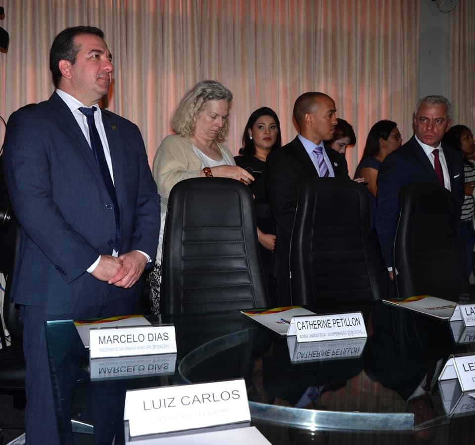 Marcelo Dias participa de recepção à delegação francesa