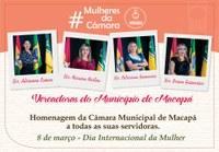 Mulheres da Câmara de Vereadores serão homenageadas nesta quinta-feira