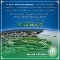 Parabéns Macapá pelos 261 anos
