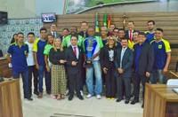 Presidente da seleção de Futsal usa a tribuna da CMM a convite do vereador Dreiser Alencar