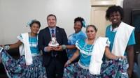 Presidente Marcelo Dias recebe grupos de Marabaixo, na Câmara de Vereadores de Macapá