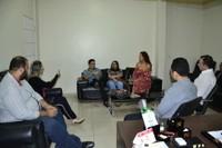 Presidente Marcelo Dias recebe representantes de Associações de Intérpretes e Surdos do Amapá.