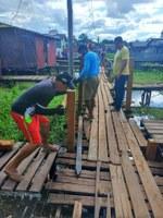 Requerimento solicitado pelo vereador Odilson Nunes (SD) garante reforma de passarela no bairro São Lázaro