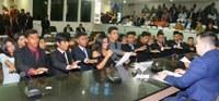 Reunião solene marca a posse e eleição da mesa diretora dos vereadores jovens de Macapá