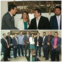Ruzivan Pontes recebe visita de deputados estaduais