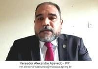 Vereador Alexandre Azevedo requer melhorias para os Bairros Congós, Santa Rita, Goiabal e Infraero I