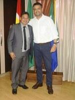 Vereador Cláudio é recebido pelo prefeito de Macapá, Clécio Luis