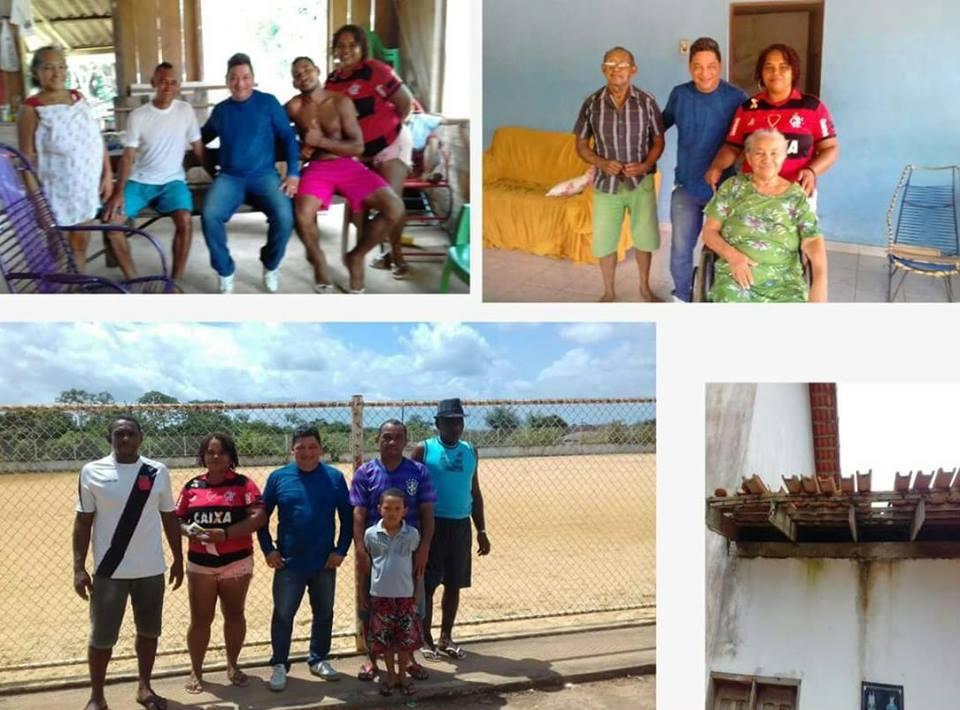 Vereador Cláudio visita o distrito de Maruanum