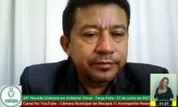 Vereador Edinoelson Careca pede asfalto para as ruas do Distrito do Coração