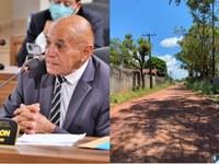 Vereador Zeca solicita asfalto para o Ramal da Aseel