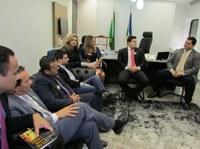 Vereadores são recebidos no gabinete do Senador Davi Alcolumbre e discutem demandas em favor da população macapaense.